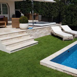 Travertine Terrassenplatten für Garten